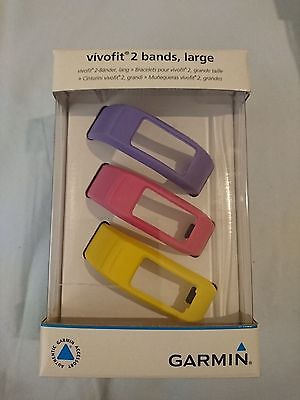 Genuine Official GARMIN replacement bands 3 pcs-set for vivofit 2  (large size)