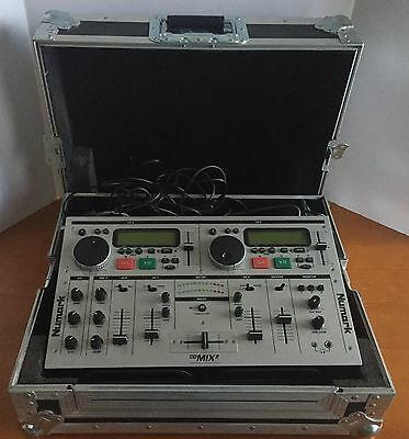NUMARK PRO CD MIX 2 PROFESSIONAL MIXING CONSOLE w/ Odyssey Case & Microphone