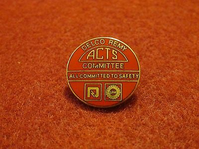 """""""Delco-Remy ACTS Committee"""" Small Cloisonne' Lapel Pinback Button-3/4"""""""