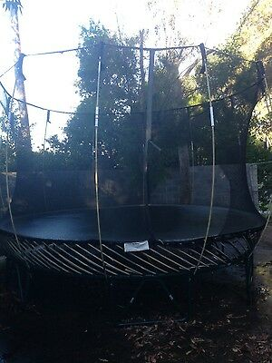 Spring free trampoline with net (12ft diameter)