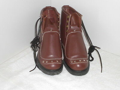 NEW Iron Age CSA 1 Steel Toed Construction Boots Met Guard Size 8 Brown CANADA