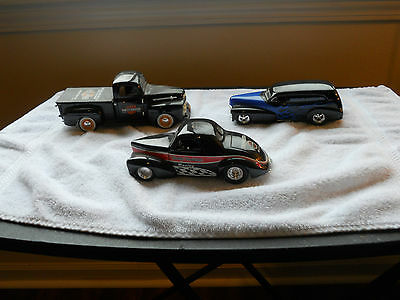 H-D Lot of 3  Diecast Backs 1941 Willys, 1952 Ford Truck, 1946 Chevy