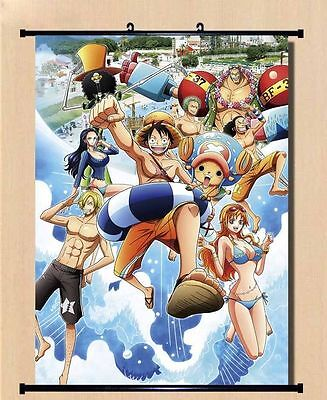 Home Decal Japanese One Piece Relaxing Time Luffy Anime Poster Wall Scroll16*24