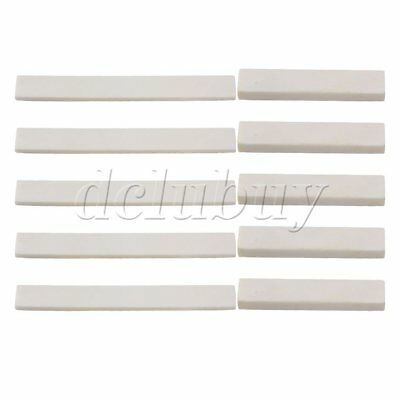 White Guitar Parts Classical Guitar Blank Bone Nut and Saddle DIY Parts Set of 5