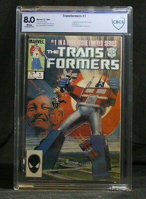 Transformers #1 – Graded 8.0 by CBCS (not CGC) – 1984 Marvel