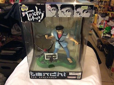 Tenchi Muyo Masaki and Space Ship Light up Toy Figure Statue brand new