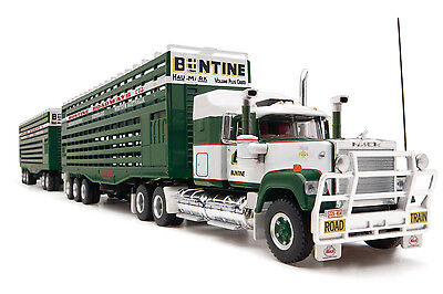 1:64 Mack Livestock Road Train with Dolly Buntine Truck Model Diecast 12004