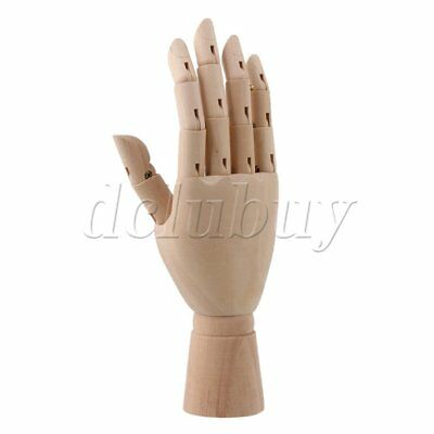 "10"" Mannequin Articulated Men Women Wooden Right Hand for Art Drawing"