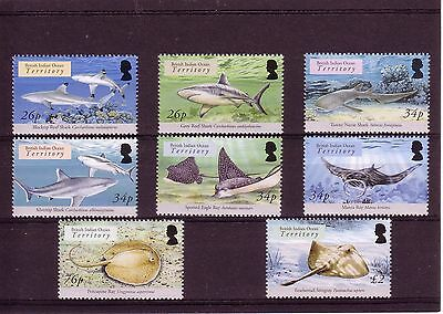 British Indian Ocean Territory 2005 Sharks & Rays 8v MNH