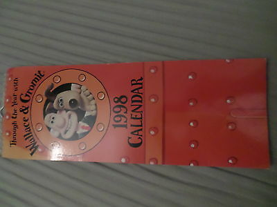 Wallace and Gromit 1998 Calendar Very Rare New Unused