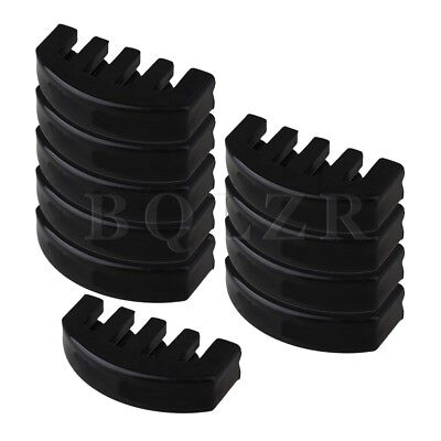 10 x Black Rubber 4/4 Size Violin 5 Prong Practice Mute for Volume Control
