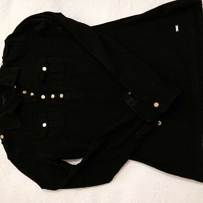 Women's Black Tommy Hilfigger Silk Blend Shirt. Size 8