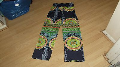 1960's Hippy Style Psychedelic Trousers Size 10