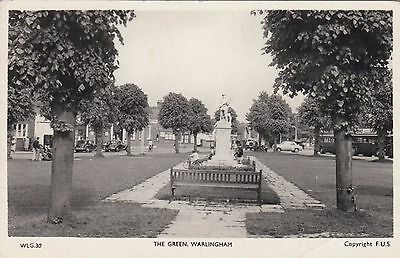 The Green, Warlingham, Surrey, Real photo, old postcard, posted 1962