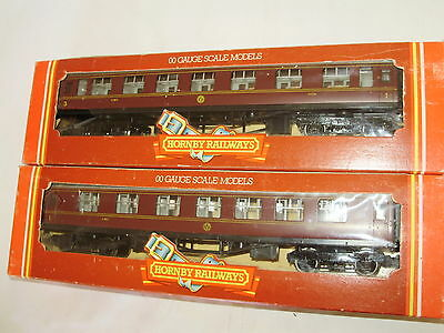 2 x Hornby R.474 LMS Composite Coach. In as NEW Condition. Boxed. OO Scale