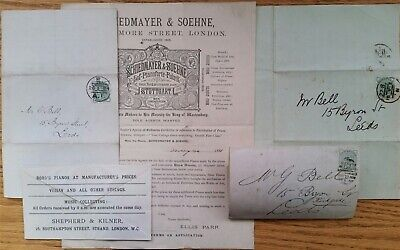 Great Britain Advertising Letter Sheets Piano Harmonium 1881/4
