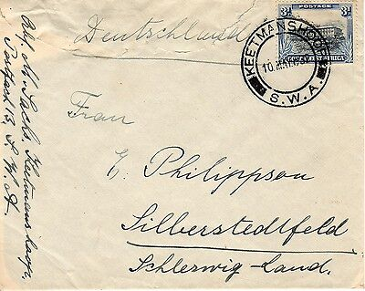 S.W,A. South West Africa-Schleswig 1932 cover. Single stamp