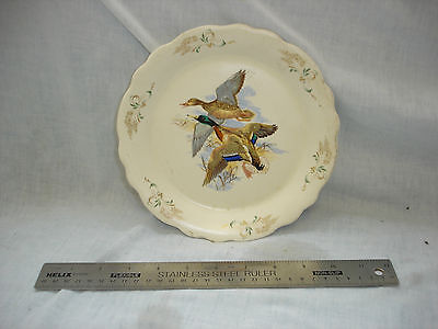 Axe Vale Pottery Plate Hand Painted 'Ducks in Flight' in lovely condition