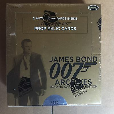 James Bond Archives 2014 Sealed Box Rittenhouse Autograph Autos Rare