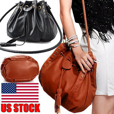 Women Fashion Big Leather Handbag Ladies Shoulder Tote Purse Messenger Bags