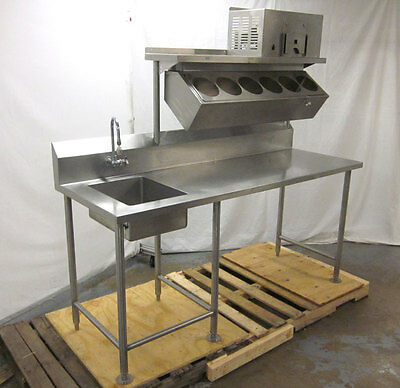 "Commercial Refrigerated Sandwich Condiment Prep Table Stainless Salad 76""L"