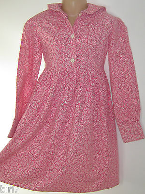 LAURA ASHLEY VINTAGE CLASSIC 70's PINK DITSY SPRIG PRINT DRESS, 6-8 YEARS