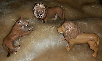 Schleich 2007 Wild Life Series Lion & Lioness D-73527 Lot King of the Jungle Set