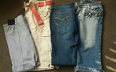 Bundle womens jeans shorts and leggings size 14