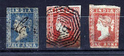 India 1854  3 Stamps