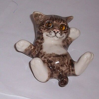 Winstanley Cat Kitten Size 1 Tabby and White Tickle Belly