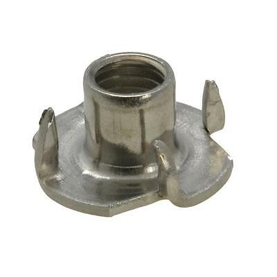 Tee Nut 4 Prong M8 (8mm) Metric Coarse T Nut Blind Timber Stainless Steel G304