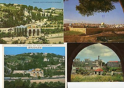 Israel,8 Used Postcards with Stamps,1960-80s,Jerusalem,Temples,Citadel,Old City+