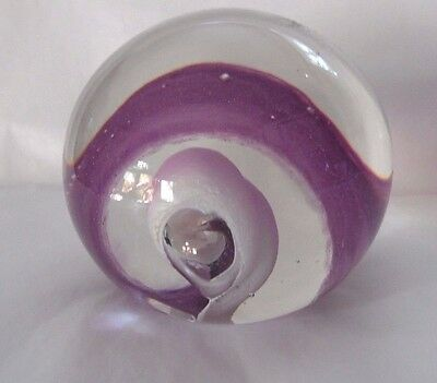 Selkirk glass paperweight made in Scotland 1990