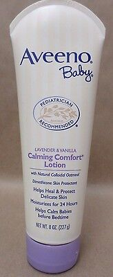 Aveeno Baby Lavender and Vanilla Calming And Comfort Lotion 8 oz New Sealed