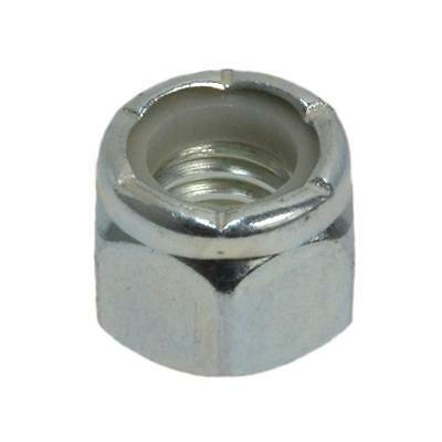 """Hex Nyloc Nut 1-1/8"""" UNC Imperial Coarse Steel Insert BSW Grade 5 Zinc Plated"""