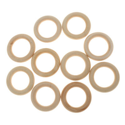 10 Unfinished Wooden Loop Ring Material DIY Craft Jewelry Findings 5.5cm