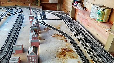 Peco Setrack N Gauge Turnout / Points With Electric Motor And Switch Railtrack