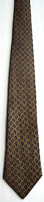 Men's New Silk Neck Tie, Brown with small paisley dots by Andhurst