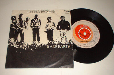1971? TURKEY RARE EARTH HEY BIG BROTHER TAMLA MOTOWN 71809 picture COVER RECORD
