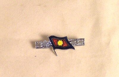 """Salvation Army - SMALL BLOOD & FIRE FLAG PIN - 1 1/4"""""""