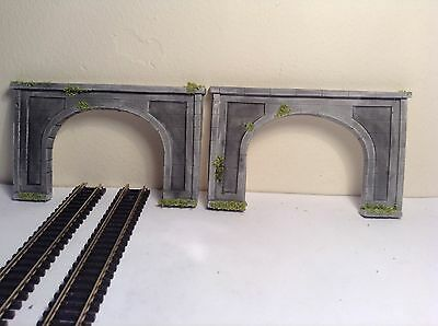 #n Gauge Twin Track Concrete  Tunnel Entrance Set Of 2