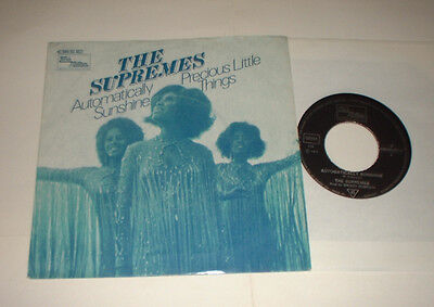 1972 Germany Supremes Automatically Sunshine Tamla Motown 0693457 Cover Record