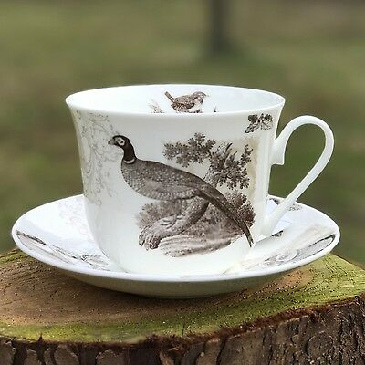 Roy Kirkham RSPB Woodland Animals Bone China Breakfast Cup & Saucer Gift Boxed