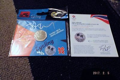 2012 Olympics 50p-CYCLING-Signed by JASON KENNY-46 OF 50-Royal Mint Pack