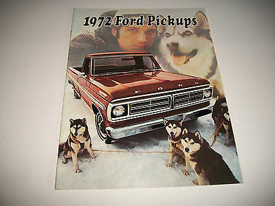 1972 Ford  Pickups Sales Brochure F100/250/350 & 4-Wheel Drive Clean  Canadian