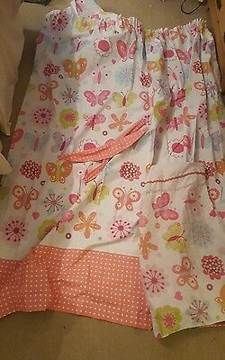 girls curtains and double duvet set
