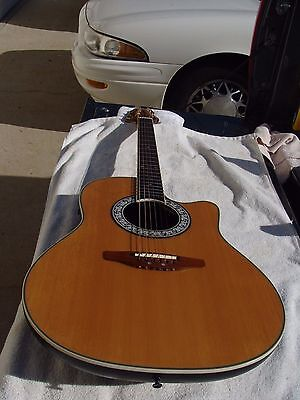 Ovation 1528 Ultra Deluxe Acoustic Electric Guitar Nice