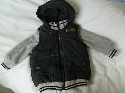 Boys Hooded Gilet with Sleeves F&F Age 12 - 18 months