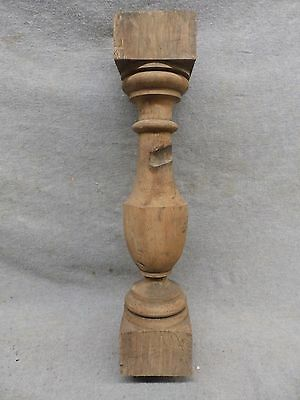 Thick Antique Turned Wood Spindle Porch Baluster Old Vtg Architectural 136-17R