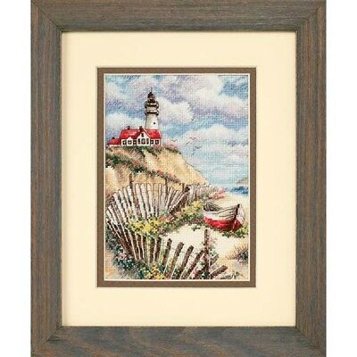 Dimensions D65021 | Cliffside Beacon Picture Counted Cross Stitch Kit 13 x 18cm